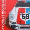 Porsche 911 RSR Daytona 1973 Origineel 60x80