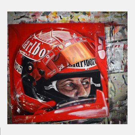 Schumacher helmet Havlasek_portrait_schilderij_ferrari