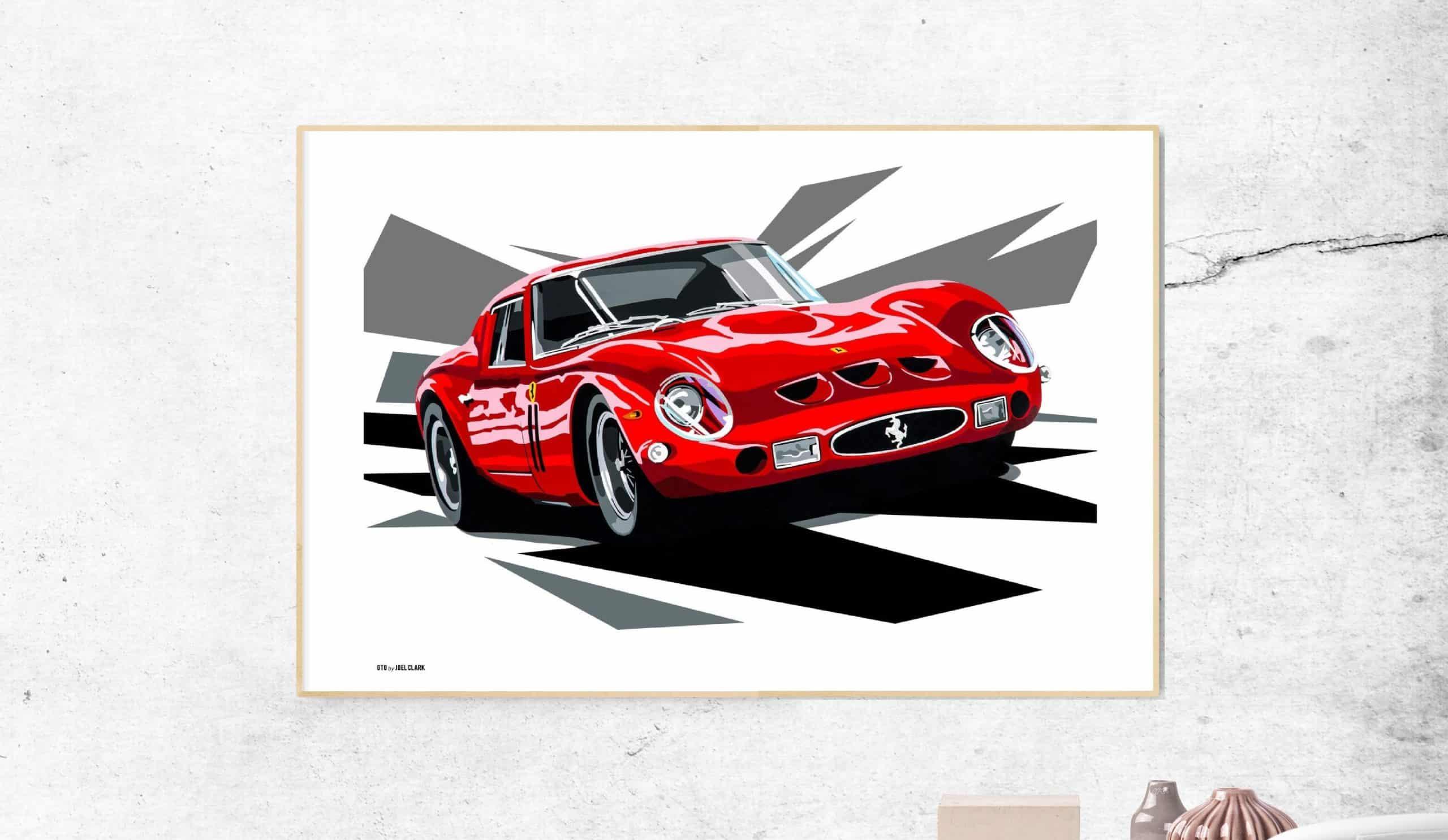 Wall_frame_Ferrari-GTO-schilderij-art