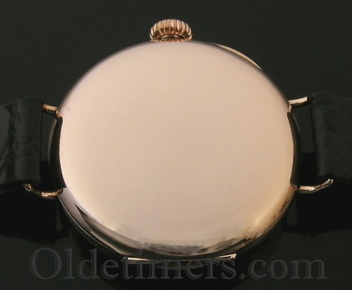1914 9ct rose gold round vintage Waltham watch
