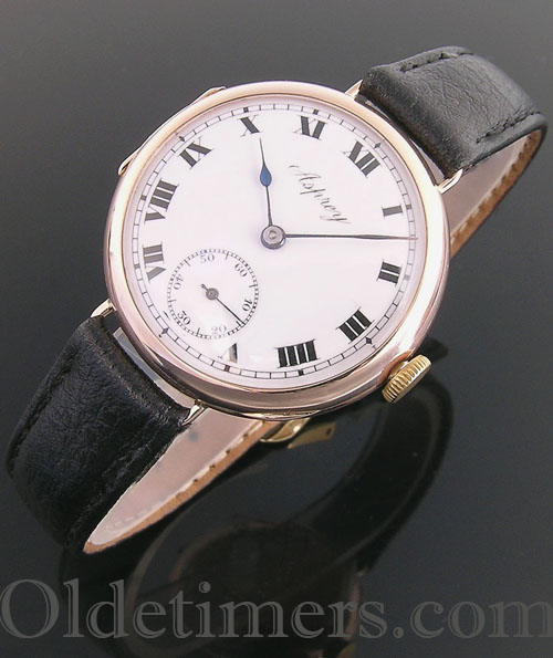 1920s 9ct rose gold vintage Asprey watch (3771)