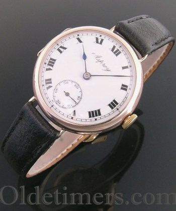 1920s 9ct rose gold vintage Asprey watch (3771)