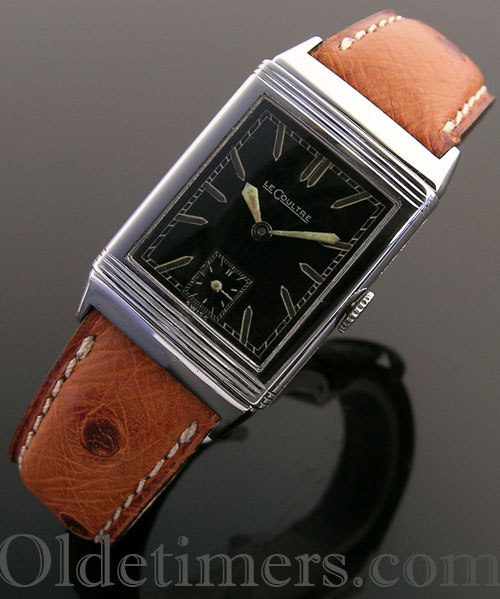 1930s steel vintage Jaeger LeCoultre Reverso watch (3727)