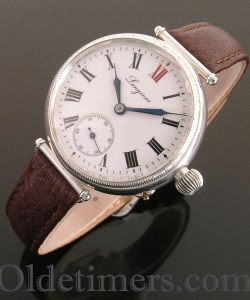 1900s early silver vintage Longines 'Officers' watch (3311)
