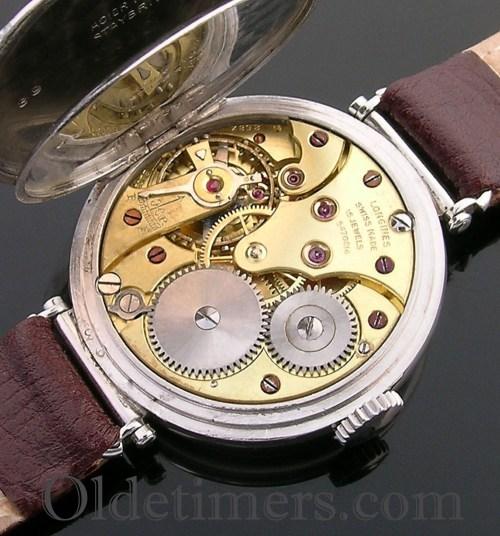 1930s round steel vintage Longines watch (3806)