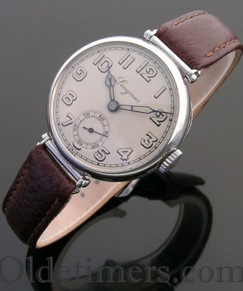 1920s round steel vintage Longines watch (3806)