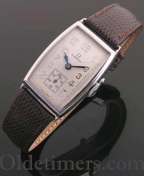 1930s steel tonneau vintage Omega watch (3579)