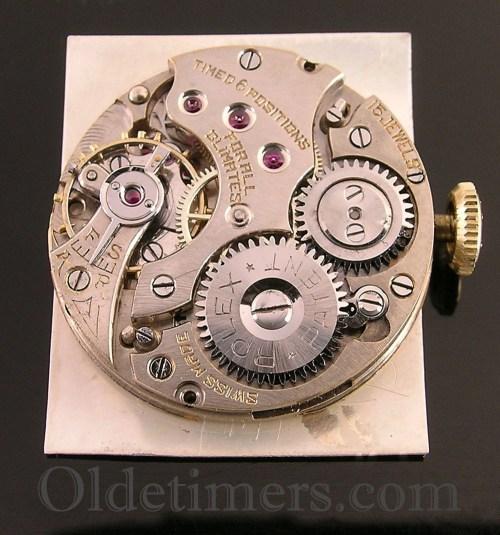 1920s 18ct gold large rectangular vintage Rolex watch (3608)