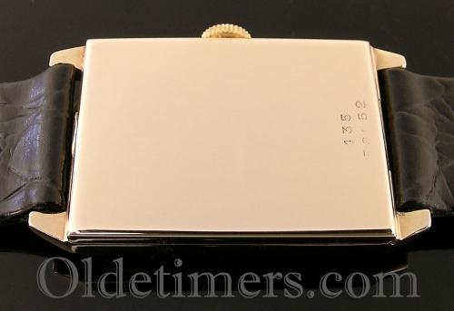 1920s 9ct gold rectangular vintage Rolex watch (3613)