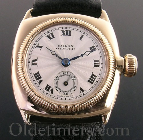 1920s 9ct gold cushion vintage Rolex Oyster watch (3690)