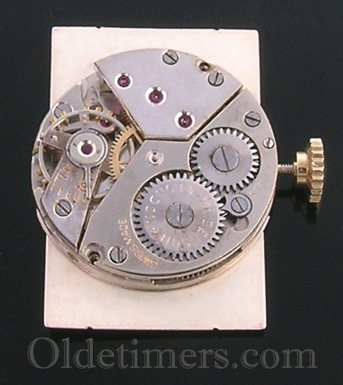 1930s 18ct two colour gold vintage J.W. Benson watch (2666)