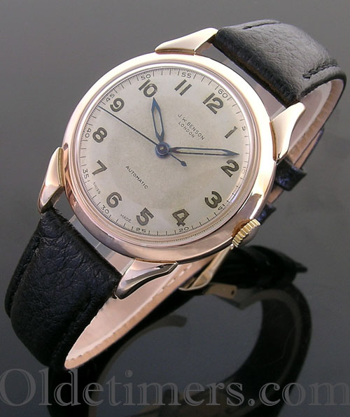 1940s 9ct rose gold vintage JW Benson automatic watch (3756)