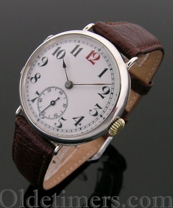 1911 rare early round silver vintage Rolex watch
