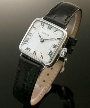 1913 square silver vintage ladies Rolex watch