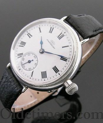 1909 silver round 'Borgel' cased I.W.C. (International Watch Company) watch
