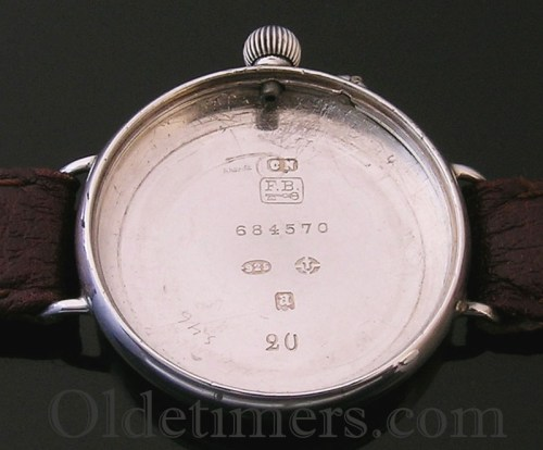 1916 silver vintage IWC (International Watch Company) watch (3754)