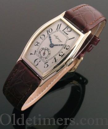 1920s 9ct gold tonneau vintage Asprey watch