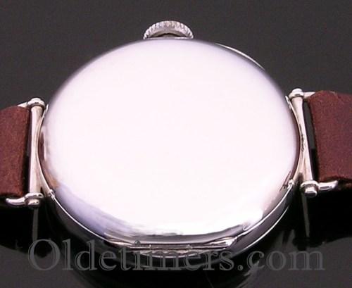 1920s silver round vintage Longines watch (3642)