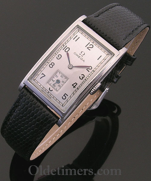 1940s steel rectangular vintage Omega watch (3856)