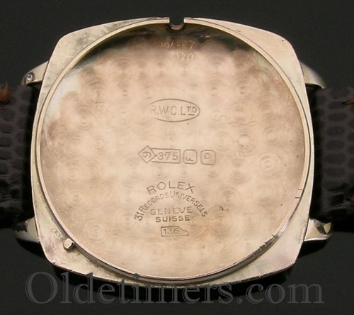 1930s 9ct gold cushion vintage Rolex Precision watch