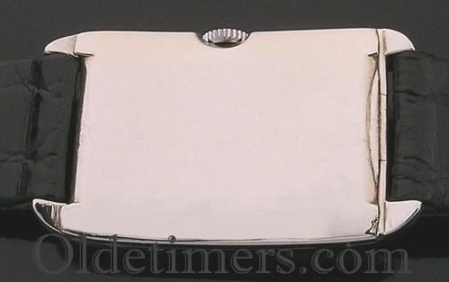 1920s 18ct white gold rectangular vintage Movado watch