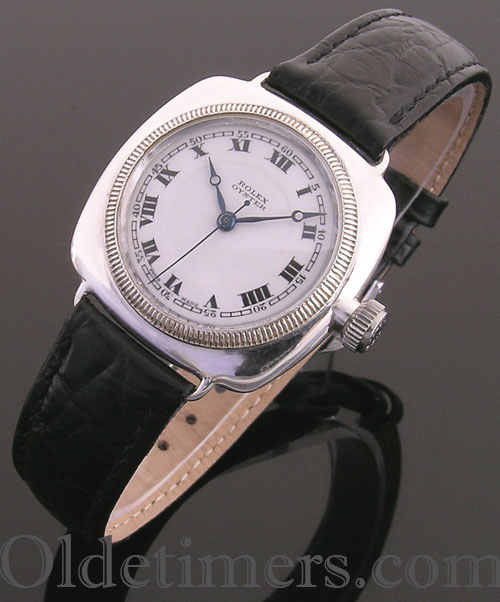 1920s silver cushion Vintage Rolex Oyster watch (3828)