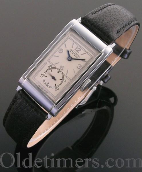 1930s steel vintage Rolex Prince watch