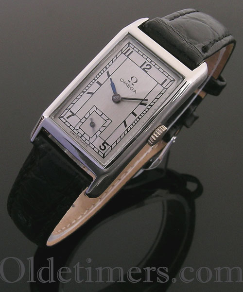 1930s steel rectangular vintage Omega watch (3941)