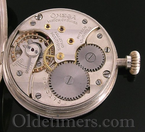1920s silver round vintage Omega watch