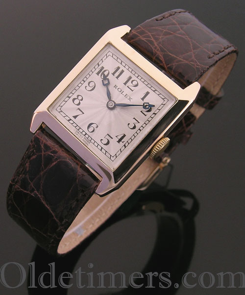 1920s 9ct gold square vintage Rolex watch (3942)