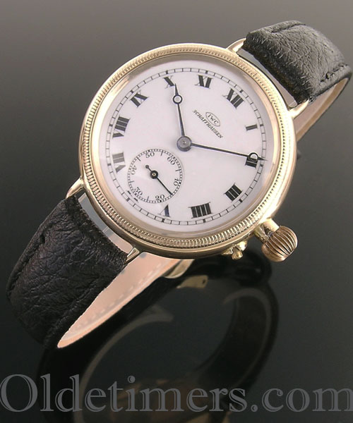 1920s 18ct gold round vintage I.W.C. watch (3766)