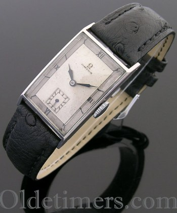 1930s steel rectangular vintage Omega watch