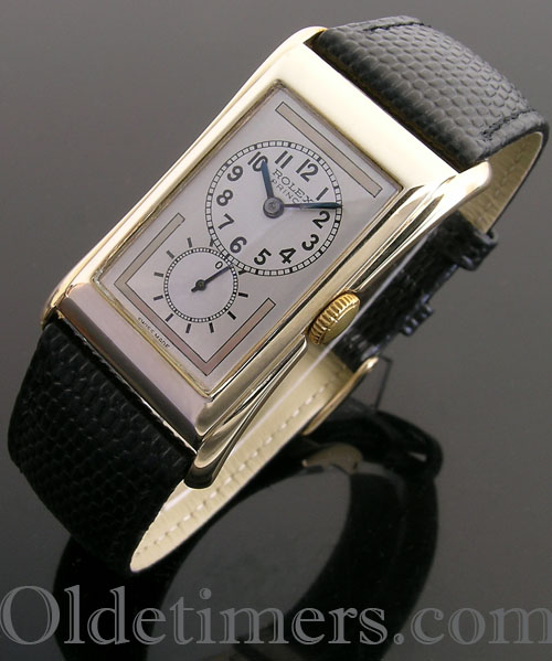1930s 9ct gold vintage Rolex Prince Brancard watch (3824)