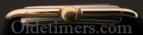1930s 18ct two colour gold rectangular vintage Asprey watch