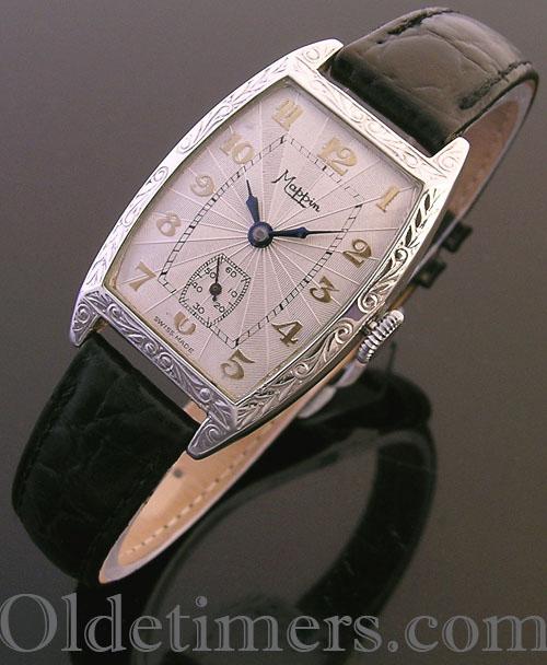 1920s silver tonneau vintage Mappin watch (3884)