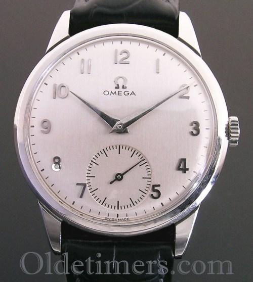 1950s steel round vintage Omega watch