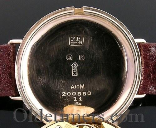 1920s 9ct gold round vintage S R Elliott watch
