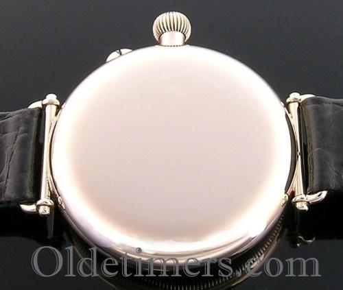 1920s 9ct gold round vintage Longines Borgel watch