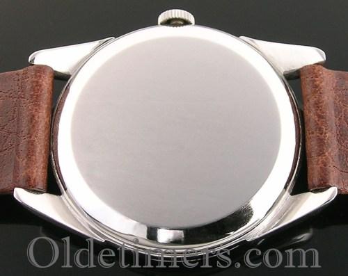 1950s round steel vintage Omega watch