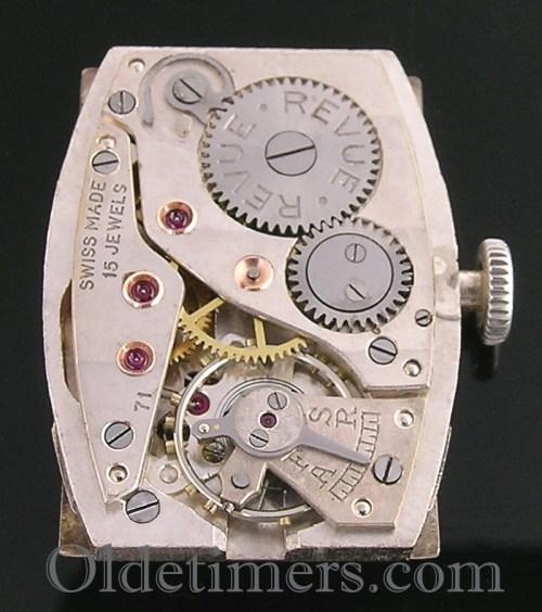 1930s rectangular steel vintage Dunhill watch