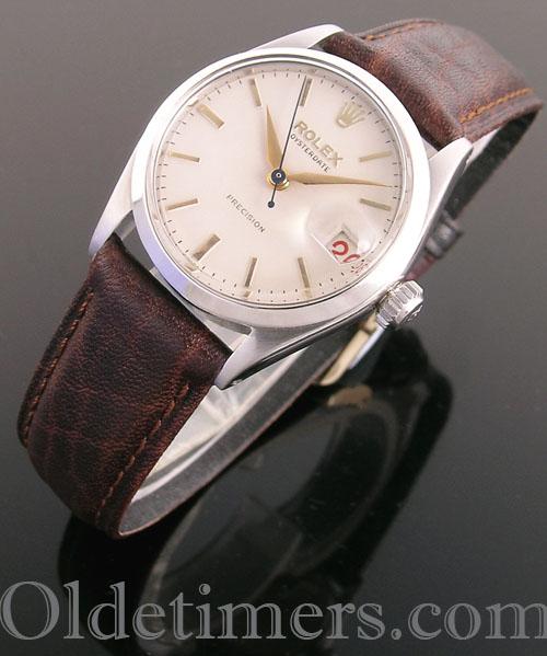 1950s steel mid-size vintage Rolex OysterDate watch