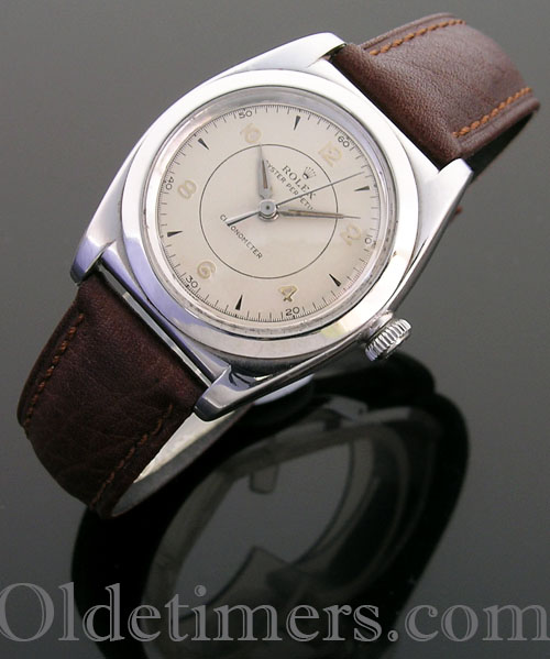 1930s steel vintage Rolex Oyster Bubbleback watch (3852)