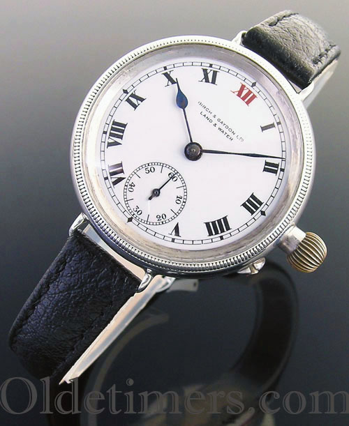 1917 silver round vintage Birch & Gaydon 'Officers' watch (3452)