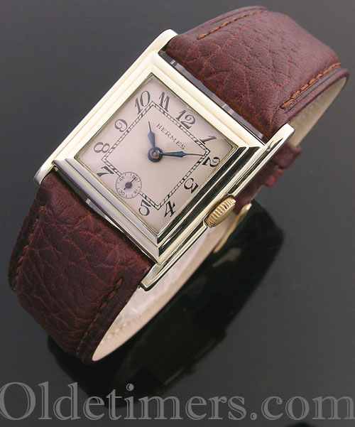 1920s 18ct gold square vintage Hermes watch (3783)