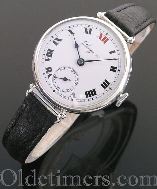 1920s silver round vintage Longines watch (4039)