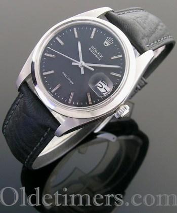 1970s steel vintage Rolex Oysterdate watch