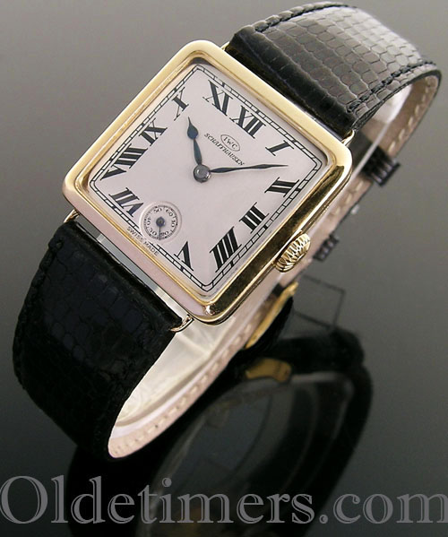 1920s 18ct gold square vintage IWC watch (4036)