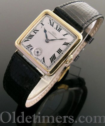 1920s 18ct gold square vintage IWC watch