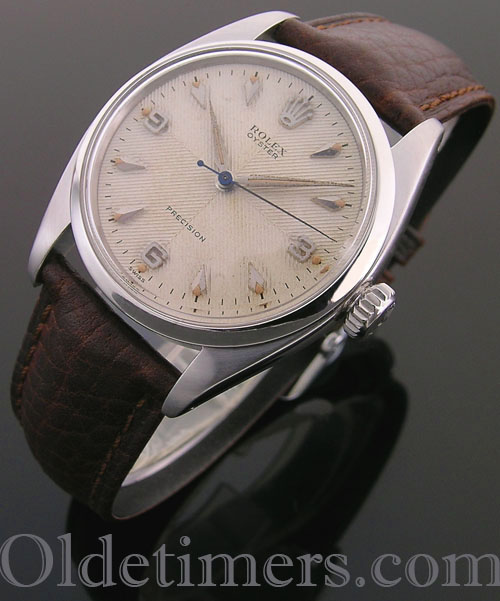 1950s steel vintage Rolex Oyster Precision watch (4123)