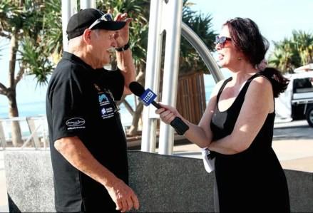 Rod being interviewed